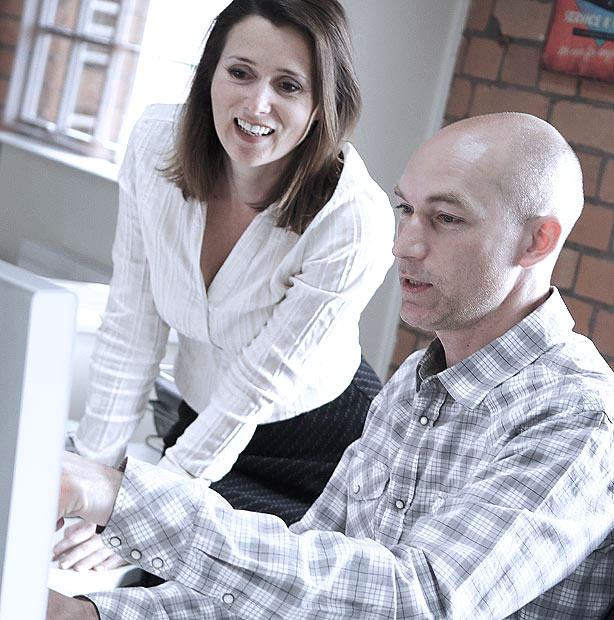 Debbie Porter and Andy Smith of Gravity Digital Marketing agency in Derby