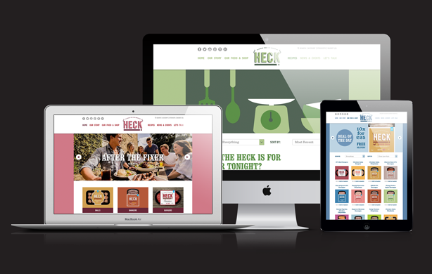 Web site design for Heck sausages