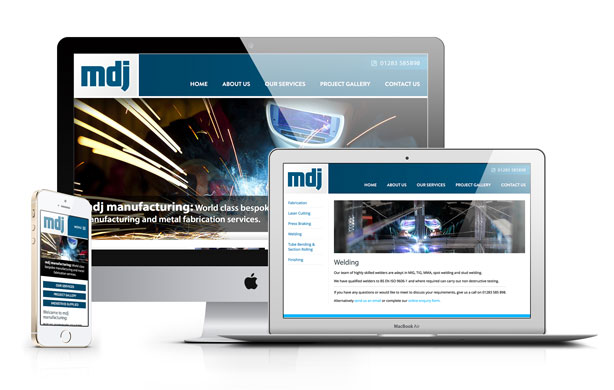 Web site design for MDJ Manufacturing