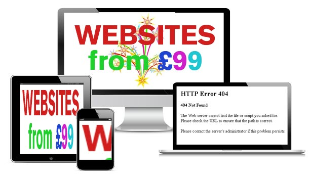 Why pay more than £99 for a website?